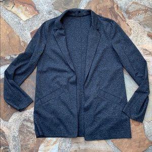 Topshop blazer jacket gray knit jersey 6